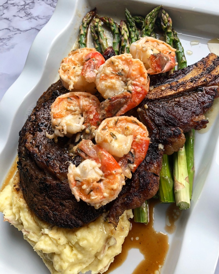 """Dinner for Bae"" Surf N Turf"